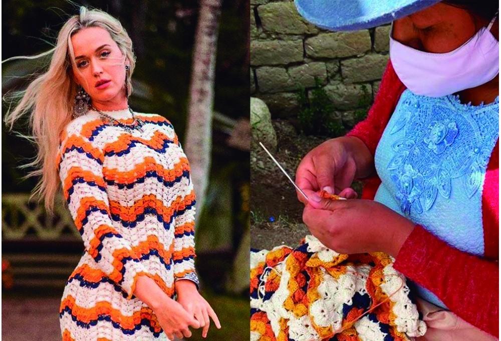 Katty Perry usa vestido hecho por artesana peruana y causa record en ventas.